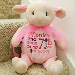 Personalised Cubbie Pink Easter Lamb *Limited* Soft Toy Animal